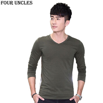 New Casual Sweater Men Pullovers autumn winter Knitting long sleeve v-Neck slim thin fashion Sweaters bottoming shirt,MM1175