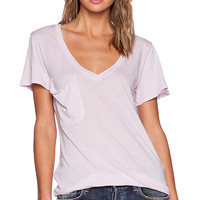Bobi Light Weight Jersey Tee in Lavender