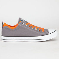 Converse Dual Collar Chuck Taylor All Star Mens Shoes Charcoal Gray  In Sizes