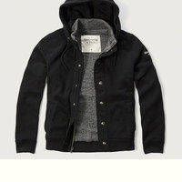 Contrast Hooded Fleece Jacket