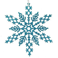 2 Commercial Snowflake Ornaments - Color:turquoise Blue