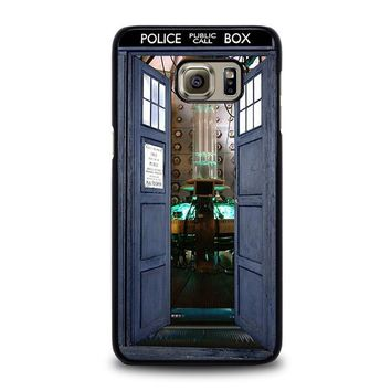 dr who tardis open the door samsung galaxy s6 edge plus case cover  number 1