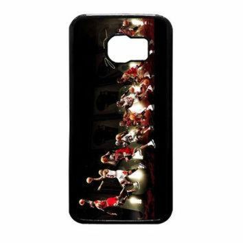 DCKL9 Michael Jordan NBA Chicago Bulls Dunk Samsung Galaxy S6 Case