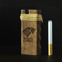 California Sea // Dugout One Hitter Game of Thrones House Stark with Hemp wick