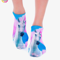 Multiple Colors Harajuku 3D Printed Food Women's Socks calcetines Casual Charactor Socks Unisex Low Cut Ankle Socks
