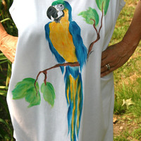 Hand Painted Tank Dress Beach Cover