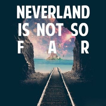 Take Me To Neverland Stretched Canvas by Christa Morgan ☽