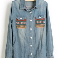 Vintage Long Sleeve Denim $43.00