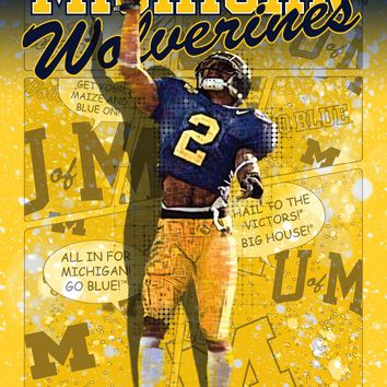 Michigan Wolverines Hail to the Victors 24x18 Football Poster