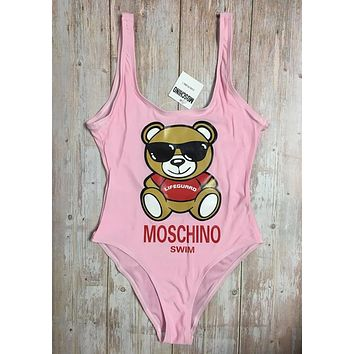 MOSCHINO One Piece Swimwear Bikini Set MOS06 Pink