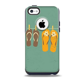 The Vintage Hanging Flip-Flops Skin for the iPhone 5c OtterBox Commuter Case