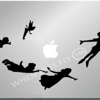 Peter Pan Shadow-Apple Macbook Ipad Laptop Vinyl Decal Sticker Skin Cover Apple Macbook Ipad Laptop Vinyl Decal Sticker Skin Cover computer sticker computer decal decal mac decal for mac laptop sticker laptop decal newest version macbook pro laptop quotes
