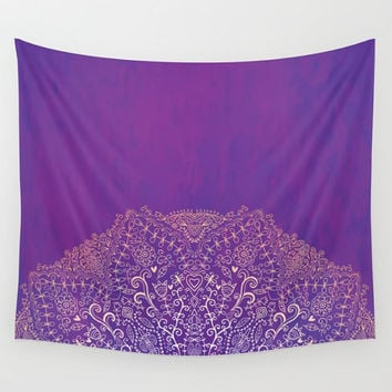 Deep Purple Mandala Wall Tapestry Yoga Meditation Mandala Wall Hanging