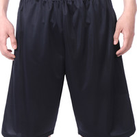 LE3NO Mens Elastic Waist Basketball Shorts with Pockets (CLEARANCE)