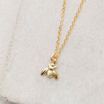 Tiny Bumblebee Necklace