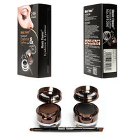 1 Brown + Black Gel Eyeliner + Black Eyebrow Powder Make Up Water-proof Set Kit (Size: 100 g) [8833591564]