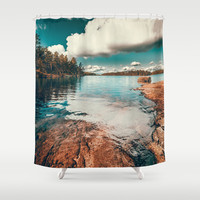 Belle Svezia Shower Curtain by HappyMelvin