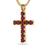 The Kingsman Cross Necklace (Ruby)
