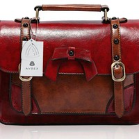Avber Vintage Style England Cambridge Retro Briefcase Messenger Bag Classic Shoulder Bag Handbag