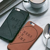 Free People Yours & Mine Leather iPhone Case Set
