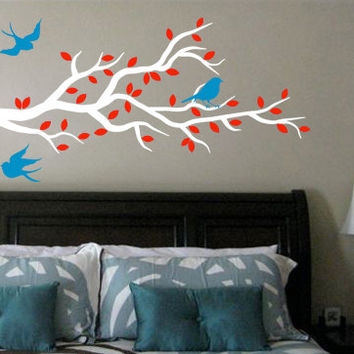 Tree Branch Wall Decal w/ Birds