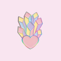 Holographic Crystal Heart ♡ from Just Peachy