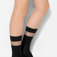Sheer-Inset Crew Sock - Urban Outfitters