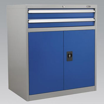 Sealey - API8810 Industrial Cabinet 2 Drawer & 1 Shelf Double Locker