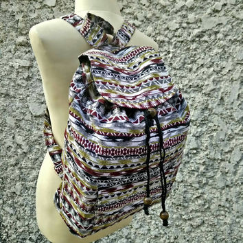 Boho Tribal Backpack Bags Aztec Stripes Hippies Ethnic Hobo styles Hipster Native Pattern Art Chic For School Messenger Travel School Unisex