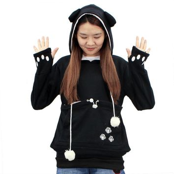 2017 Japanese Style Large Pocket Hoodie Kangaroo Pouch for Cat Dog Pet Pullovers Unisex Kangaroo Coat Maternity Hoodies