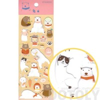Adorable Polar Bear Honey Bear and Cats Shaped Animal Jelly Stickers for Scrapbooking
