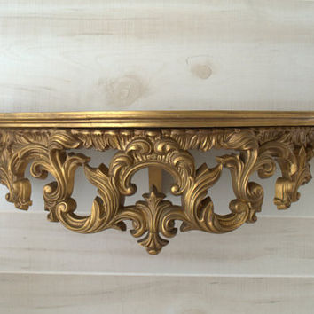 renaissance wall decor decorative wall shelf gold wall shelves unique wall shelf - Decorative Wall Shelves