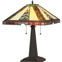 Stained Glass Arts & Crafts Jagger Table Lamp