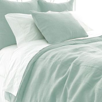 Stone Washed Linen Sky Duvet Cover