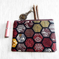 Make Up Bag,  Toiletry Bag, Pouch, Zipper Pouch, Fabric Pouch, Cosmetic Bag, Pencil Pouch, Coin Purse, Change Purse, Back to School, Case