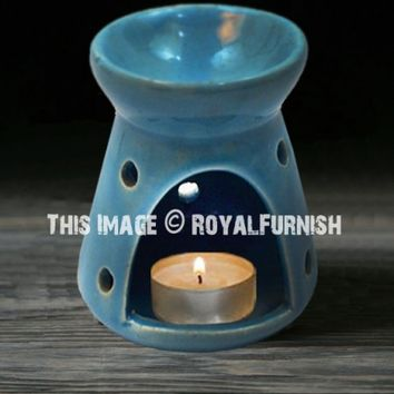 Ceramic Oil Warmer, Essential Oil Diffuser, Tealight Holder for Home Fragrance  Aromatherapy on RoyalFurnish.com