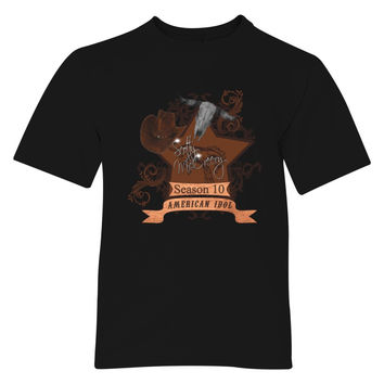 Scotty McCreery Country Style Season 10  Bull Skull Youth T-shirt