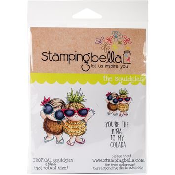 Stamping Bella Cling Stamps-Tropical Squidgies
