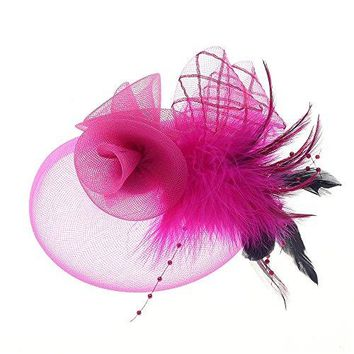 Fascinator Hats Tea Party Hats Mesh Net Head Accessories for Women