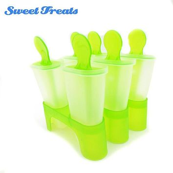 Sweettreats Lolly Mould Tray Pan Kitchen 6 Cell Frozen Ice Cube Molds Popsicle Maker DIY Ice Cream Tools