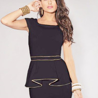 Venice Peplum Dress