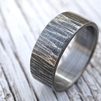 f997ff08a4a rustic mens ring, mens wedding band rustic, driftwood ring, cool