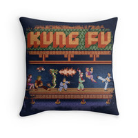 'Fu Kung' Throw Pillow by likelikes