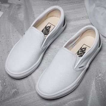 DCCKIJG Trendsetter Vans Slip-On Leather Old Skool Flat Sneakers Sport Shoes