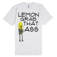 Lemon Grab-Unisex White T-Shirt