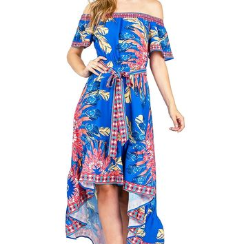Free Bird Off Shoulder Dress