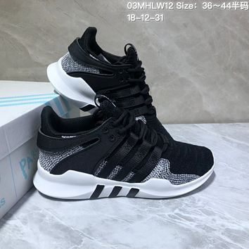 DCCK A549 Adidas EQT Cushion ADV Mesh Knit Fashion Running Shoes Black