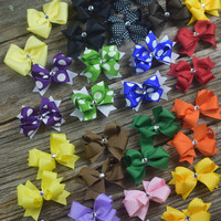 Sets of Two Bows by Mandy Lou {See Pic for Colors available}