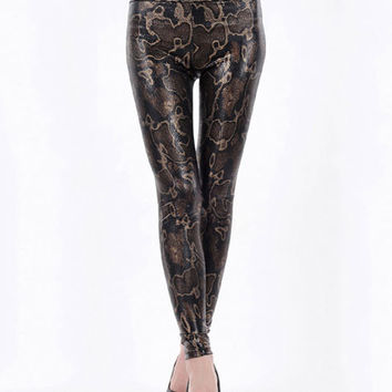 Snake Print High Waisted Leggings