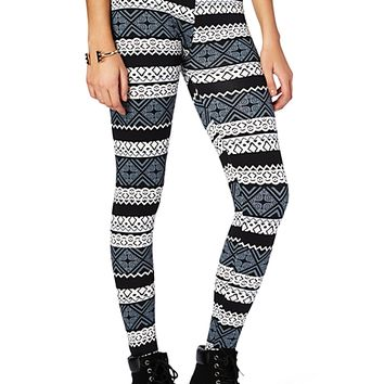 Tribal Body Slimming Fleece Legging